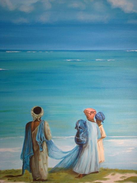 """Mar Turquesa"" • Óleo sobre lienzo • 50x70cm • 2008"