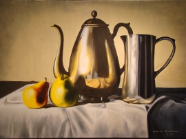 """Brillos"" • Óleo sobre lienzo • 70x50cm • 2007"
