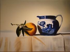 """Naranja"" • Óleo sobre lienzo • 70x50cm • 2006"