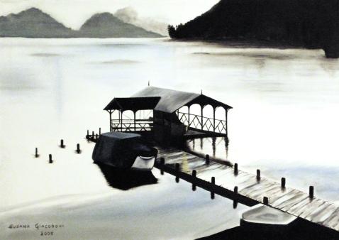 """""""Muelle del sur"""" • Óleo sobre lienzo • 70x50cm • 2005"""